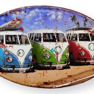 Country Tin Sign Vintage Inspired Wall Art VW KOMBI VANS Retro Plaque NEW