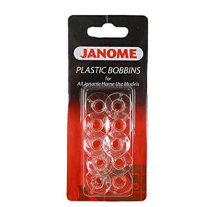 Sewing Machine Genuine JANOME Clear Set of 10 Bobbins NEW Freepost