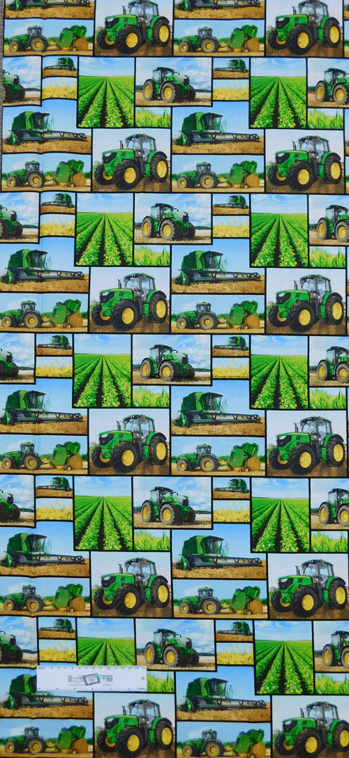 Quilting Patchwork Sewing Fabric JOHN DEERE MIXED PRINT 50x110cm 1 ...