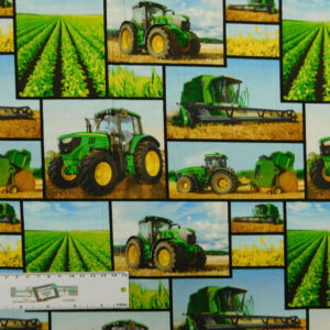 Quilting Patchwork Sewing Fabric JOHN DEERE MIXED PRINT 50x110cm 1/2M New