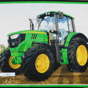 Patchwork Quilting Sewing Fabric LARGE JOHN DEERE TRACTOR Panel 90x110cm New