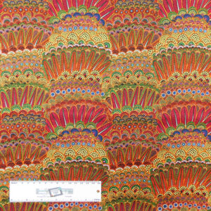 Quilting Patchwork Sewing Fabric ABORIGINAL EARTHY FEATHERS 50x55cm FQ New