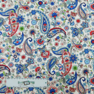 Quilting Patchwork Sewing Fabric TRADITIONAL PAISLEY FLORAL 50x55cm FQ New