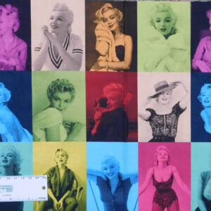 Patchwork Quilting Sewing Fabric MARILYN MONROE Panel 30x110cm New