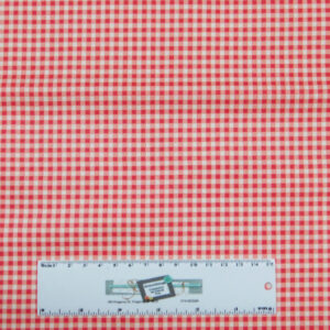 Patchwork Quilting Sewing Fabric RED SMALL GINGHAM CHECK 50x55cm FQ New
