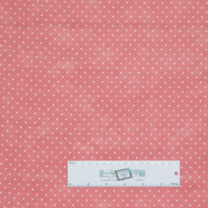 Patchwork Quilting Sewing Fabric ROSE PINK SMALL SPOTS DOTS 50x55cm FQ New