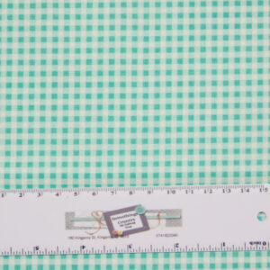Patchwork Quilting Sewing Fabric TEAL BLUE SMALL GINGHAM CHECK 50x55cm FQ New