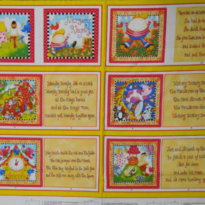 Patchwork Quilting Sewing Fabric NURSERY RHYMES BOOK Panel 90X110cm New