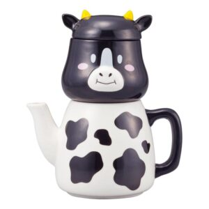 Collectable Novelty Kitchen Teapot Cow Tea For One China Cup & Tea Pot Set New