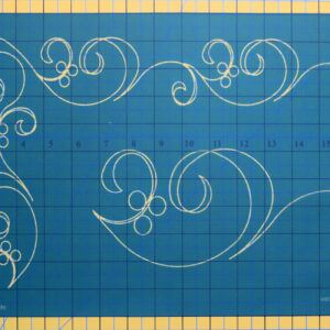 Quilting Full Line Stencil ALONG THE WAY SWIRL BORDER Reusable for Quilts use Pounce A3 New