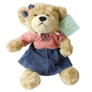 Cuddly Collectable Plush Teddy Bear Boyds Bear Girl Dressed Sits New