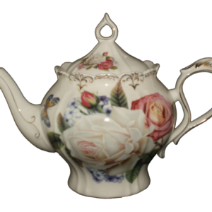 Collectable Novelty Kitchen Teapot Rose Bouquet China Tea Pot New