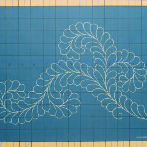 Quilting Full Line Stencil FANCY FEATHER II Reusable for Quilts use Pounce A3 New