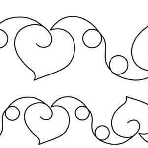 Quilting Full Line Stencil HEARTS & LOOPS Reusable for Quilts use Pounce A3 New