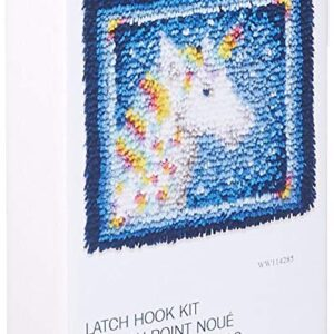 Crafting Kit New Latch Hook with Canvas and Precut Threads UNICORN New