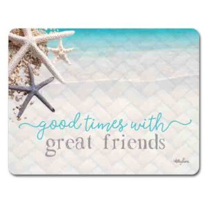 Kitchen Cork Backed Placemats AND Coasters ISLAND ESCAPE FRIENDS Set of 6 New