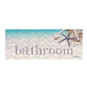 French Country Wall Art Plaque ISLAND ESCAPE BEACH Bathroom Wooden Sign New