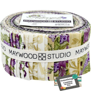 Quilting Jelly Roll Sewing Patchwork AUBERGINE Maywood Studio 2.5 Inch Strips Fabrics New