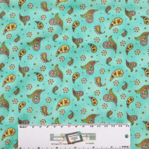 Patchwork Quilting Sewing Fabric ROAM SWEET HOME BLUE PAISLEY 50x55cm FQ New