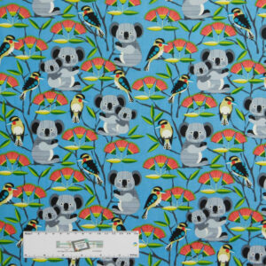 Patchwork Quilting Sewing Fabric BUSH BUDDIES KOALAS 50x55cm FQ New