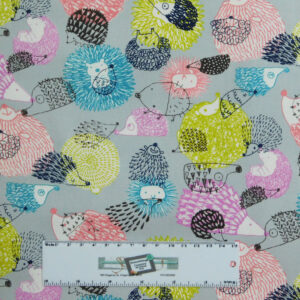 Patchwork Quilting Sewing Fabric ECHIDNAS PORCUPINES 50x55cm FQ New