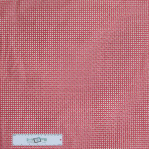 Patchwork Quilting Sewing Fabric RED BASKET WEAVE CHECK 50x55cm FQ New