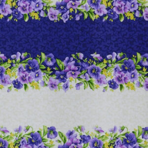 Patchwork Quilting Sewing Fabric PANSY BORDER Panel 50x110cm New