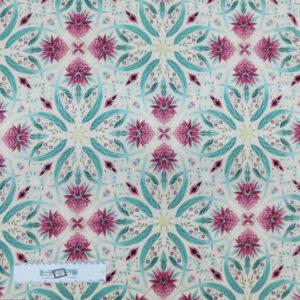 Patchwork Quilting Sewing Fabric UNDER AUSSIE SUN PINK WARATAH 50x55cm FQ New