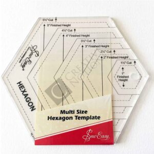 Quilting Patchwork Sewing Template SMALL HEXAGON 1.5-5.5 Inch New