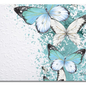 Kitchen Cork Backed Placemats AND Coasters BEJEWELED BUTTERFLY Set 6 NEW