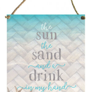 French Country Inspired Wall Art ISLAND ESCAPE SUN 30x40cm Tin Sign New