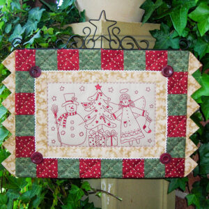 Quilting Sewing Wall Hanging Pattern HOLLY & JOLLY Xmas Rivendale Collection New