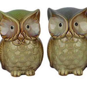 French Country Vintage Inspired Set of 4 Coloured Owls Ornaments New