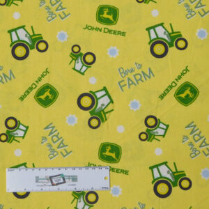 Patchwork Quilting Sewing Fabric BORN TO FARM JOHN DEERE 50x55cm FQ New