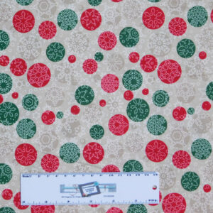 Patchwork Quilting Sewing Fabric CHRISTMAS SNOWFLAKES SPOTS 50x55cm FQ New