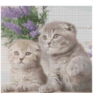 Cross Stitch Pattern COURTNEY and DAYNA Kittens New X Stitch Gwen Street Designs New