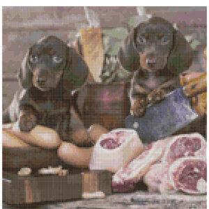 Cross Stitch Pattern PADDY and PETE Dogs New X Stitch Gwen Street Designs New