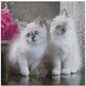 Cross Stitch Pattern HANNAH and LOUISE Kittens New X Stitch Gwen Street Designs New