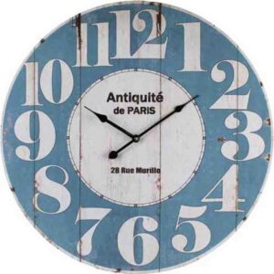 Clocks Country Vintage Inspired Wall ANTIQUE DUCK EGG BLUE Clock 60cm New