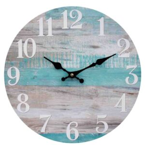 Clock Country Vintage Inspired Wall BY THE BEACH BOARDS Clock 34cm New