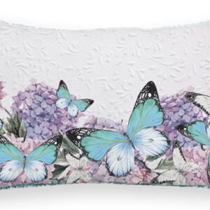 French Country Cushion Bejewelled Butterfly Cushion Filled 30x50cm Kelly Lane New