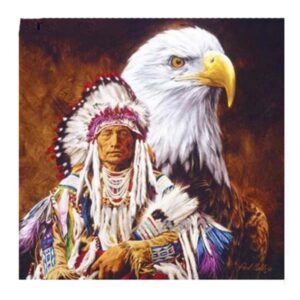 5D Diamond Painting Square Drills INDIAN and EAGLE incl Canvas, Beads, Tool New