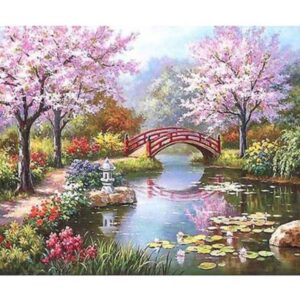 5D Diamond Painting Square Drills BRIDGE incl Canvas, Beads and Applicator Set New