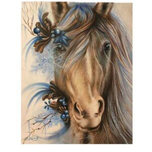 5D Diamond Painting Square Drills HORSE HEAD incl Canvas, Beads, Applicator New