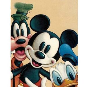 5D Diamond Painting Square Drills MICKEY MOUSE incl Canvas, Beads, Applicator New