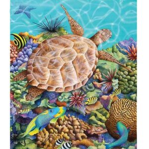 5D Diamond Painting Square Drills TURTLE BACK incl Canvas, Beads, Tool New