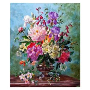 5D Diamond Painting Square Drills FLOWERS IN VASE incl Canvas, Beads, Applicator New