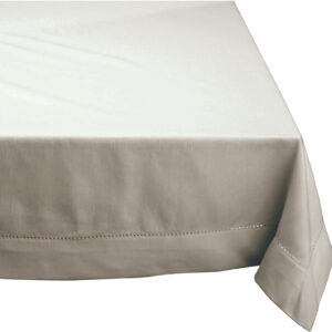 French Country Table Cloth HEMSTITCH Tablecloth OATMEAL Assorted Sizes New