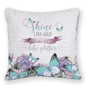 French Country Cushion Bejewelled Butterfly SHINE Euro Cushion Filled 60x60cm New