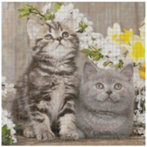 Cross Stitch Pattern MOLLY and CLAIR Kittens New X Stitch Gwen St Designs New